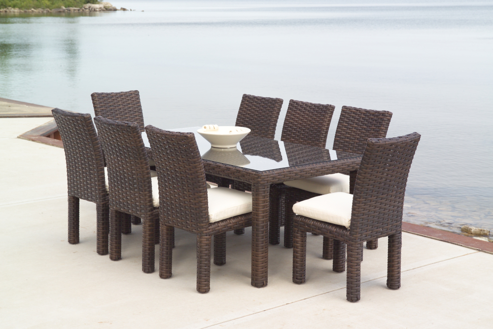 "Contempo 72"" Rectangular Umbrella Dining Table"