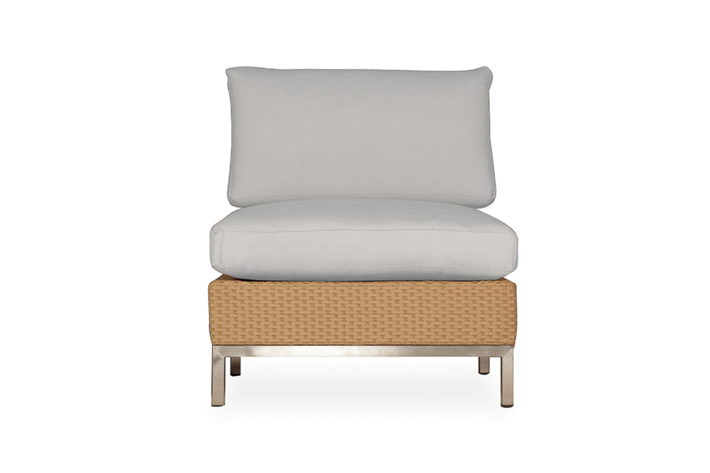 Elements Armless Lounge Chair with Loom Back