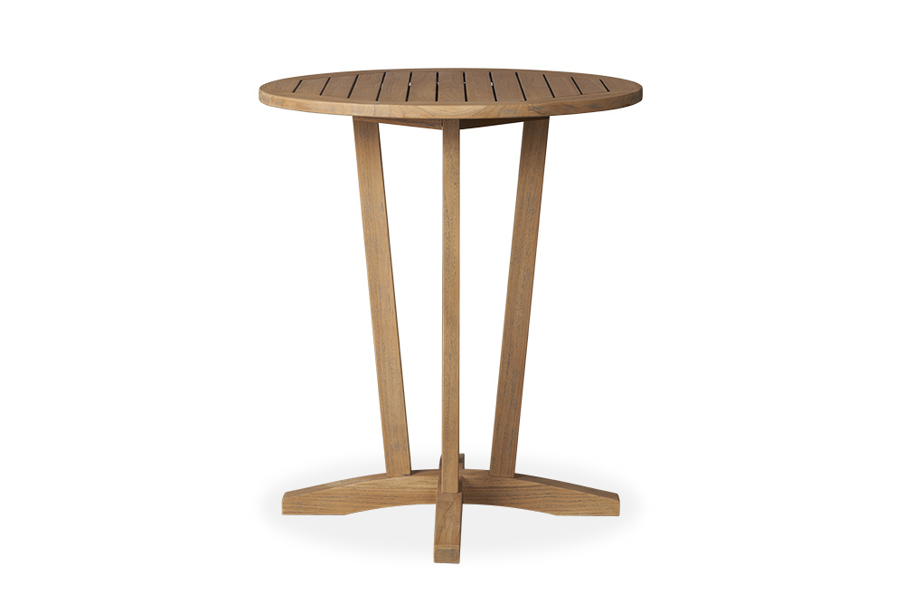 "Teak 30"" Round Bar Table"
