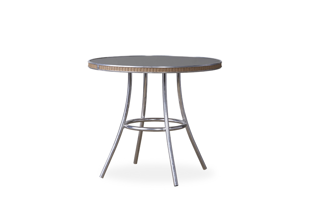 """All Seasons 33"""" Round Bistro Table with Charcoal Glass"""