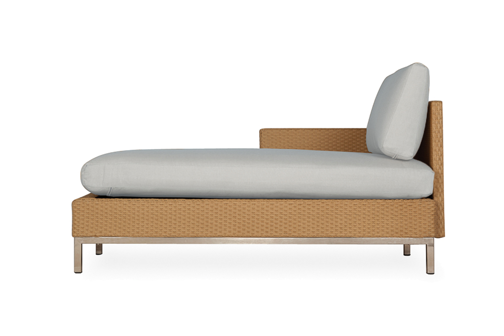 Elements Right Arm Chaise with Loom Arm and Back
