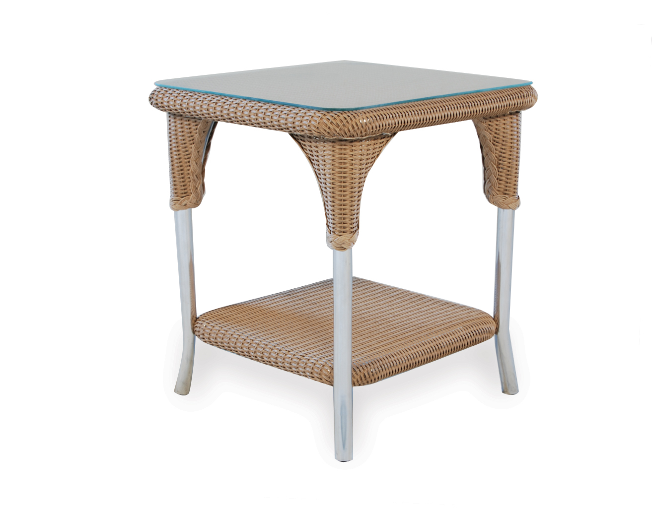 "Loom 22"" Square End Table"
