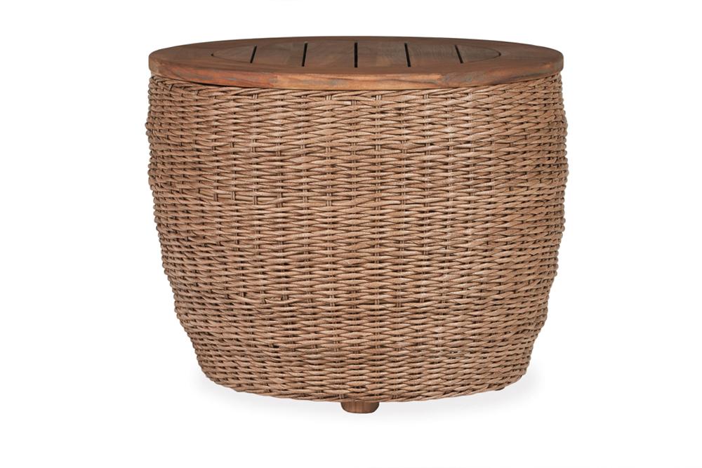 """Tobago 24"""" Round Barrel End Table"""