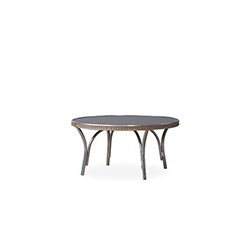 """All Seasons 33"""" Round Cocktail Table with Charcoal Glass"""